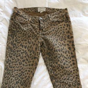 Current/Elliott | The Stiletto Camel leopard Jeans